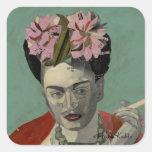 Frida Kahlo de García Villegas Pegatina Cuadrada