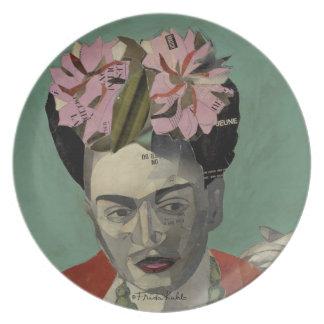 Frida Kahlo de García Villegas Plato De Cena