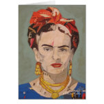 Frida Kahlo en Coyoacán Portrait Card