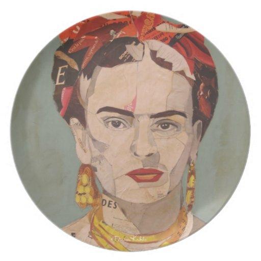 Frida Kahlo en Coyoacán Portrait Dinner Plate