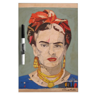 Frida Kahlo en Coyoacán Portrait Dry-Erase Board