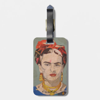Frida Kahlo en Coyoacán Portrait Tags For Luggage