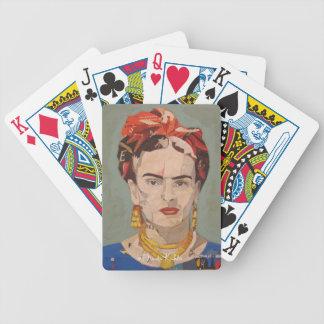 Frida Kahlo en Coyoacán Portrait Bicycle Poker Deck