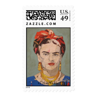 Frida Kahlo en Coyoacán Portrait Postage