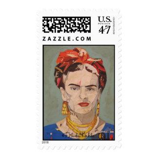 Frida Kahlo en Coyoacán Portrait Postage Stamp