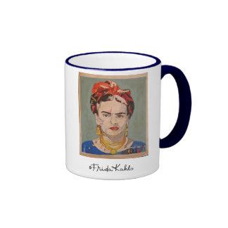 Frida Kahlo en Coyoacán Portrait Ringer Coffee Mug