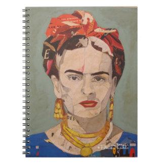 Frida Kahlo en Coyoacán Portrait Spiral Notebook