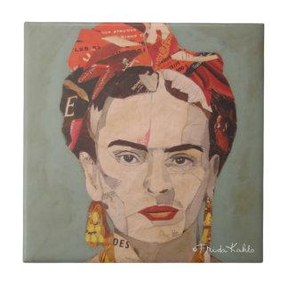 Frida Kahlo en Coyoacán Portrait Small Square Tile