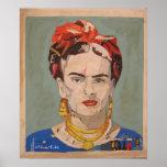 Frida Kahlo en Coyoacán Portrait 2 Poster