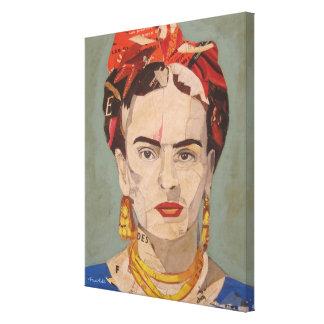 Frida Kahlo en Coyoacán Portrait Canvas Print