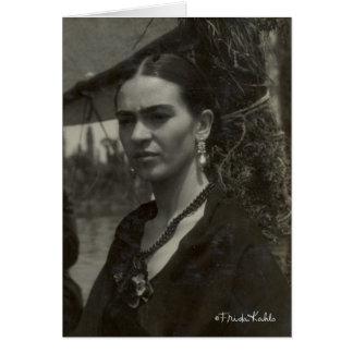 Frida Kahlo en negro Tarjeta De Felicitación