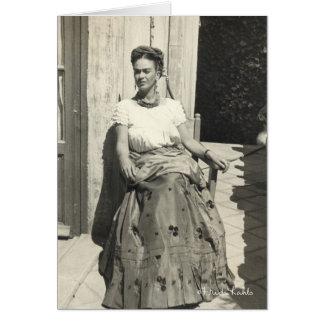 Frida Kahlo en Sun Tarjeta De Felicitación
