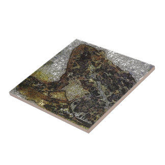Frida Kahlo FK-Style Frog Painting Small Square Tile