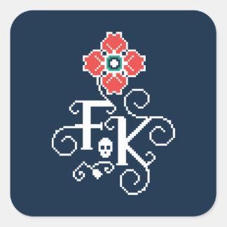 Frida Kahlo   Floral Tribute Square Sticker