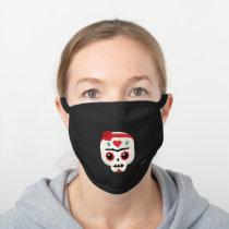 Frida Kahlo   FridaMoji - Sugar Skull Black Cotton Face Mask