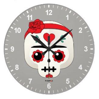 Frida Kahlo | FridaMoji - Sugar Skull Large Clock