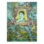 Frida Kahlo Graffiti Postcard