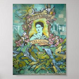Frida Kahlo Graffiti Poster