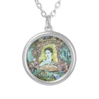 Frida Kahlo Graffiti Round Pendant Necklace