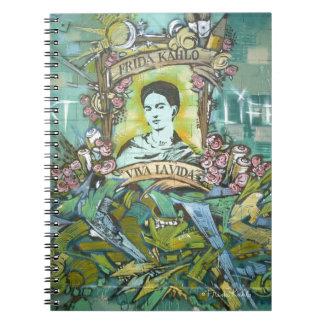 Frida Kahlo Graffiti Spiral Notebook