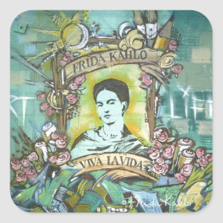 Frida Kahlo Graffiti Square Sticker