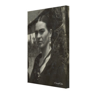 Frida Kahlo in Black Canvas Print