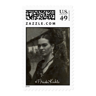Frida Kahlo in Black Stamps