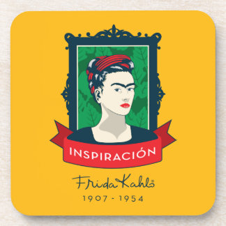 Frida Kahlo | Inspiración Beverage Coaster