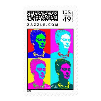 Frida Kahlo Inspired Portrait Postage Stamp