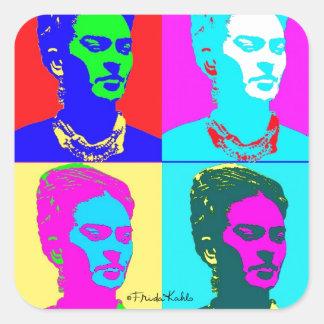 Frida Kahlo inspiró el retrato Pegatina Cuadrada