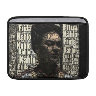Frida Kahlo Lettering Portrait MacBook Air Sleeve