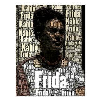 Frida Kahlo Lettering Portrait Postcards