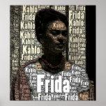 Frida Kahlo Lettering Portrait Poster
