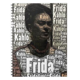Frida Kahlo Lettering Portrait Spiral Note Book