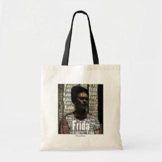 Frida Kahlo Lettering Portrait Tote Bag