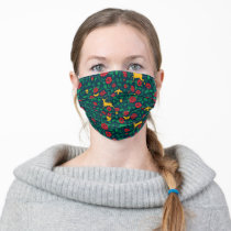 Frida Kahlo   Life Symbols Adult Cloth Face Mask