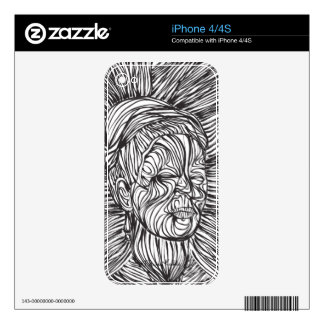 Frida Kahlo Lines Portrait Skin For The iPhone 4S