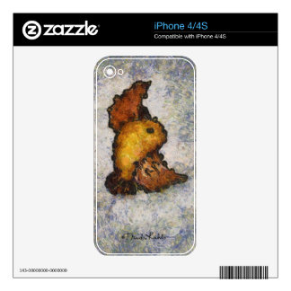 Frida Kahlo Monet-Style Bird Painting Decals For The iPhone 4S