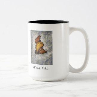Frida Kahlo Monet-Style Bird Painting Two-Tone Coffee Mug