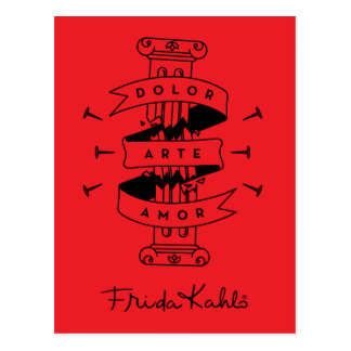 Frida Kahlo | Pain Art Love Postcard