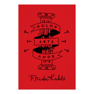 Frida Kahlo | Pain Art Love Poster