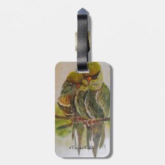 Frida Kahlo Painted Birds Bag Tag