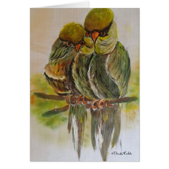 Frida Kahlo Painted Birds Card