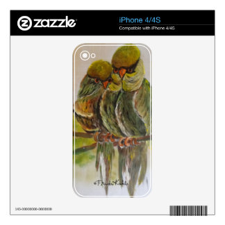 Frida Kahlo Painted Birds Decals For The iPhone 4