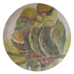 Frida Kahlo Painted Birds Party Plate