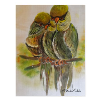 Frida Kahlo Painted Birds Postcard