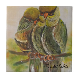 Frida Kahlo Painted Birds Small Square Tile