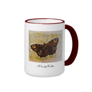 Frida Kahlo Painted Butterfly Ringer Coffee Mug