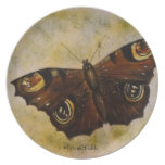 Frida Kahlo Painted Butterfly Party Plate