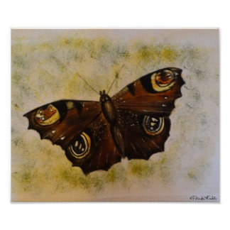 Frida Kahlo Painted Butterfly Poster
